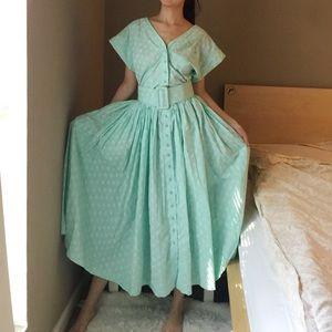 Rhonda Harness Foxy Lady Mint Green Belted Dress